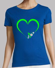 coeur vert et marguerites