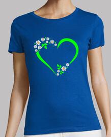 coeur vert et marguerites 2