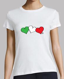 coeurs de drapeau italien