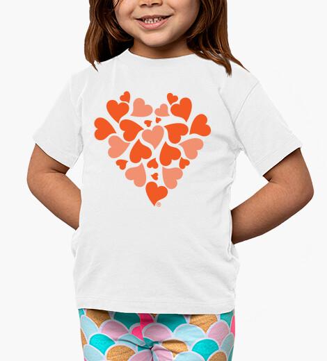 Vêtements enfant coeurs orange