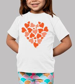 coeurs orange