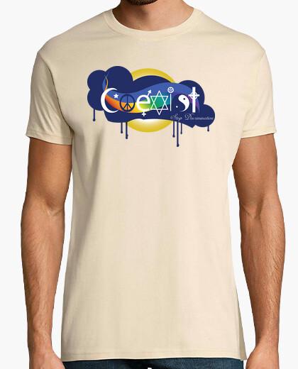 Camiseta Coexist - Stop Discrimination