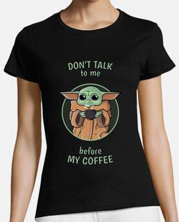 Coffee Baby Yoda - Mujer Negro 2