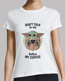 coffee baby yoda - white woman
