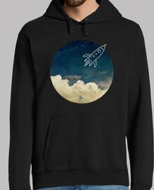 Cohete - fondo oscuro