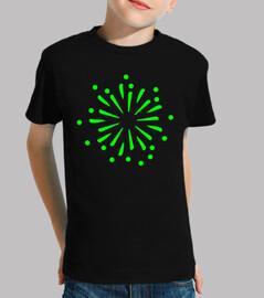 cohete de fuegos artificiales verdes