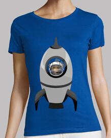 Cohete Gris Calavera Astronauta