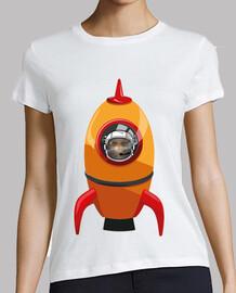 Cohete Naranja Calavera Astronauta