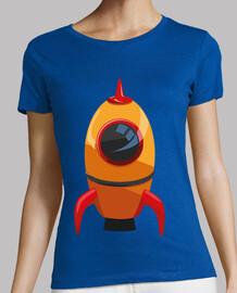 Cohete Naranja Nave Espacial