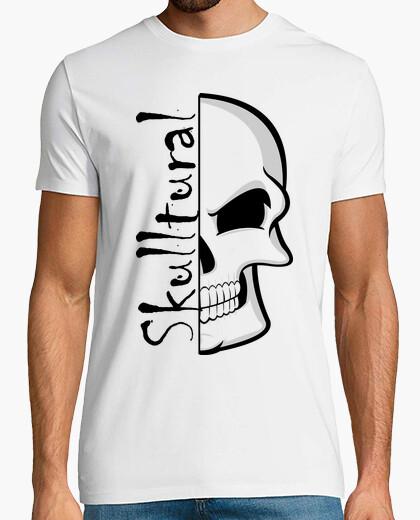 Camiseta Coleccion Skull para Hombre, manga corta, blanco, calidad extra