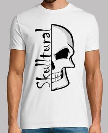 Coleccion Skull para Hombre, manga corta, blanco, calidad extra