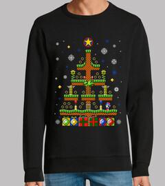 colina verde navidad / suéter / suéter feo sónico