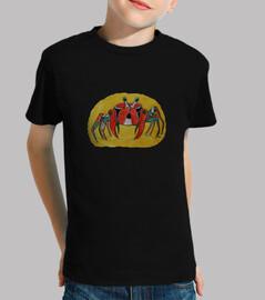 color de cangrejo camisa de niño