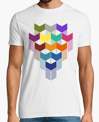 Camiseta color geométrico cuadrado