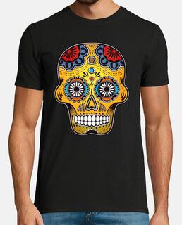 Color skull mexico