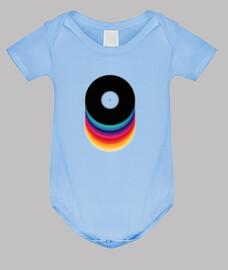 color vinilo // body bebé / azul