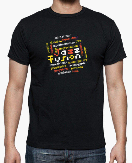Colorato jazz fusion freddo t-shirt