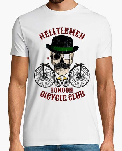 T-shirt colore vintage teschio e bicicletta