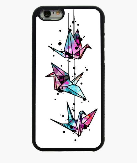 Cover iPhone 6 / 6S colore water gru bianca di origami
