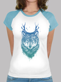 colored wolf deer