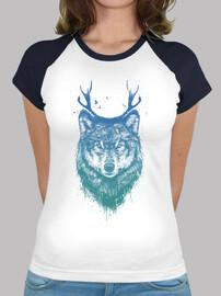 colored wolf deer