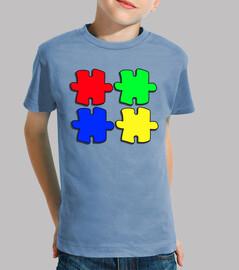 Colores, fichas de puzzle
