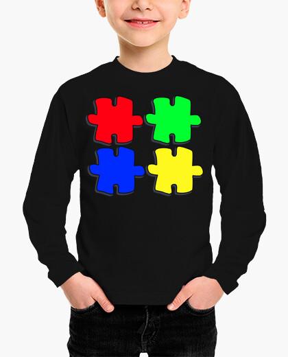 Ropa infantil Colores, fichas de puzzle