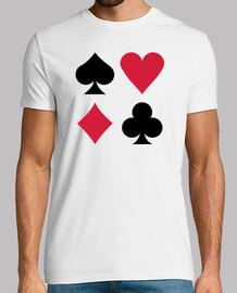 colores mazo de cartas de póquer