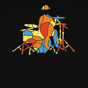 Colorful Drummer Modern Style T-shirts