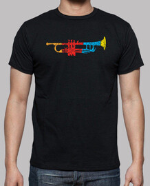 Colorful Trumpet T-shirt