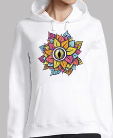 colorido reptil ojo flor divertido raro