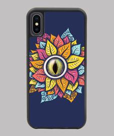 colorido reptil ojo flor raro oscuro