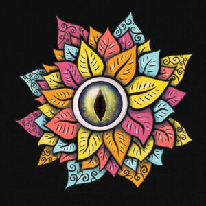 colorido reptil ojo flor raro oscuro T-shirts