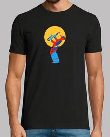 colorido saxofón de jazz músico camiseta