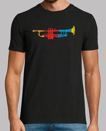 colorido trompeta camiseta