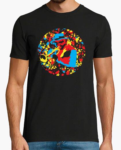 Camiseta colorido trompetista
