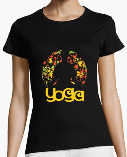Camiseta colorido yoga