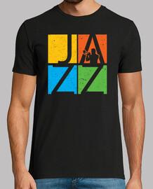 coloridos músicos de jazz
