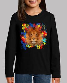 Colour smoke Lion