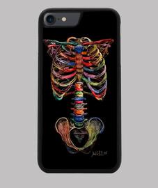 Colours skeleton Funda iPhone 7/8, negra