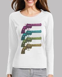 Colt Python PopArt Camiseta chica manga larga