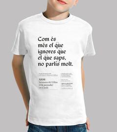 Com és més el que ignores (camiseta niña/niño)