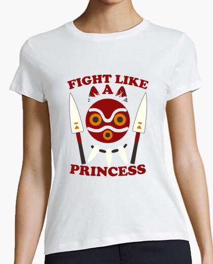 Tee-shirt combattre comme princesse - princesse mononoke