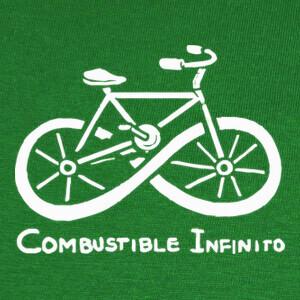 Camisetas Combustible infinito bicicleta ecologica