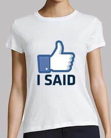come ho detto, facebook come