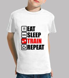come sueño tren repetición
