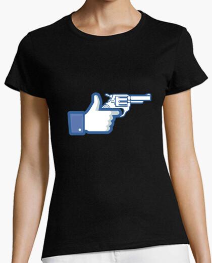T-shirt come una pistola, facebook come