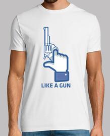 come una pistola, facebook come