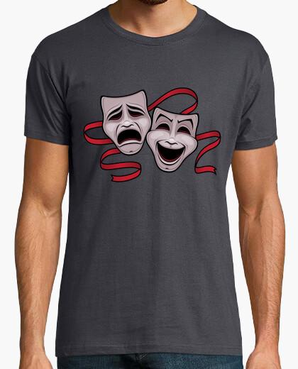 Camiseta comedia y tragedia máscaras de teatro