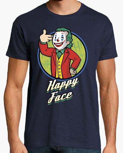 Comedian boy happy face t-shirt